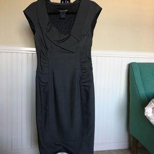 Paige (black label) Seymour wool dress, dark grey